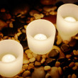 Royalty-Free Stock Photo: Candles and Rocks