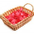 Flower Petals in Basket — Stock Photo