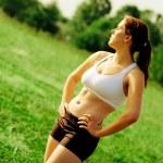 Beautiful Woman Runner — Stock Photo #2623112