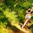 Woman Trail Runner - Stockfoto
