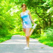 Young Woman Outdoor Workout - Stockfoto