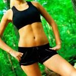 Blonde Woman Exercising — Stock Photo