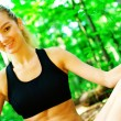 Blonde Woman Exercising — Stock Photo #2625701