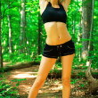 Blonde Woman Exercising — Foto Stock
