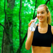 Blonde Woman Exercising — Stock Photo