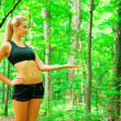 Blonde Woman Exercising — Stock Photo #2625912
