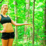Blonde Woman Exercising — Stock Photo #2625916