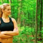 Blonde Woman Exercising — Stock Photo #2625918