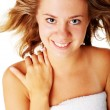 Beautiful Young Spa Woman On White — Stock Photo