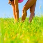 Athletic Woman Exercising — Stock Photo #2626769