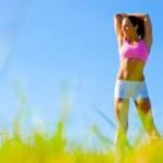 Athletic Woman Exercising — Stock Photo #2626792
