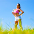 Athletic Woman Exercising — Stock Photo