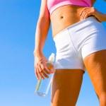 Athletic Woman Exercising — Stock Photo