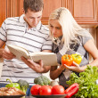 Young Couple Cooking — Stock Photo #2627532