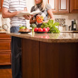 Young Couple Cooking — Stock Photo #2627534