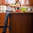 Young Couple Cooking — Stock Photo #2627539