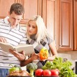 Young Couple Cooking — Stock Photo #2627540