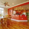 Dining Room and Kitchen Interior - Stock Photo