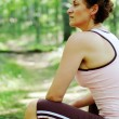 Mature Woman Runner Resting - Foto Stock