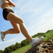 Low Angle Runner - Stock Photo