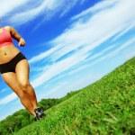 Runner Woman — Stock Photo