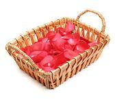 Flower Petals in Basket — Stock Photo