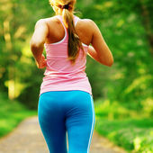 Beautiful Woman Runner — Stock Photo