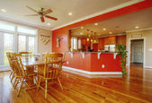 Dining Room and Kitchen Interior — Foto de Stock