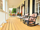 Front Porch of Traditional Home — Stockfoto