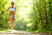 Pretty Young Runner — Stockfoto