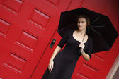 Woman With Umbrella — Foto de Stock