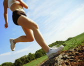 Low Angle Runner — Stockfoto