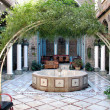 Yard in Old Damascus — Stock Photo