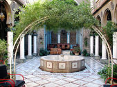 Yard in Old Damascus — Stockfoto