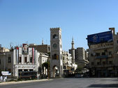 Center of Hama, Syria. — Foto de Stock