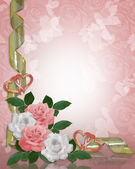 Roses Border pink white — Stock Photo