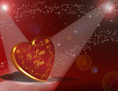 Valentines Day Background Heart — Stock Photo