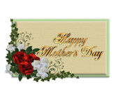 Mothers day card roses — Stock Photo