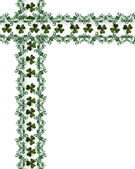 St Patricks Day Border shamrocks — Stock Photo
