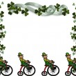 St Patricks Day Border leprechauns — Stock Photo