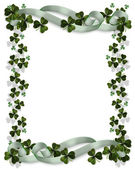 St patricks day card gränsen — Stockfoto