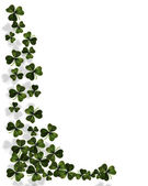 St. Patricks Day Shamrocks border — ストック写真
