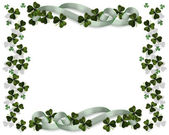 St Patricks Day Card Border horizontal — Stock Photo