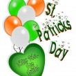St Patricks Day card Irish Balloons — Stock Photo