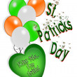 St irlandais ballons de patricks jour carte — Photo