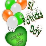 St Patricks Day card Irish Balloons — Stock Photo