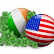 Royalty-Free Stock Photo: St. Pattys day Irish American icon