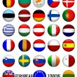 Flags of The EU European Union 3D - Stock Photo