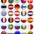 Flags of The EU European Union 3D — Stock Photo
