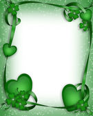 St Patricks Day Border Background — Stock Photo